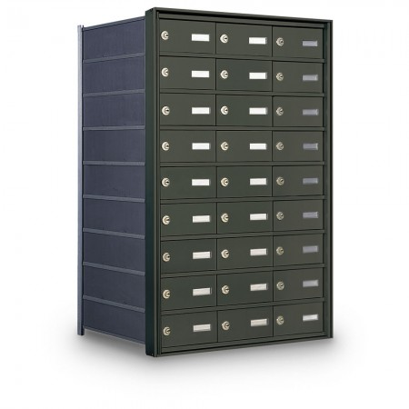 27 Door Private Use Rear Loading Horizontal Mailbox - Bronze