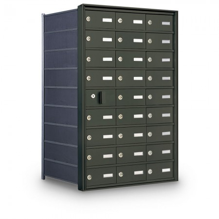 26 Door Private Use Front Loading Horizontal Mailbox - Bronze