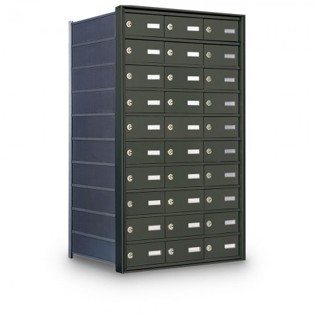 30 Door Private Use Rear Loading Horizontal Mailbox - Bronze