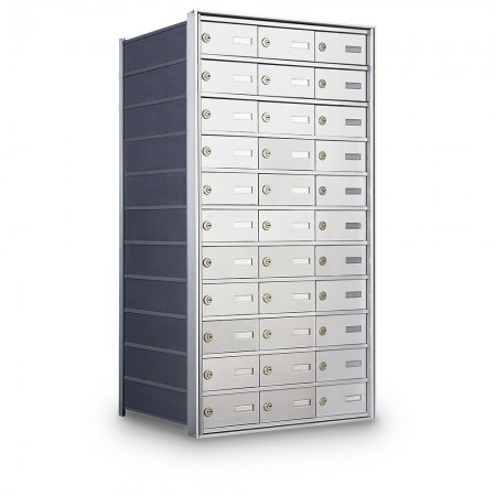 33 Door Private Use Rear Loading Horizontal Mailbox