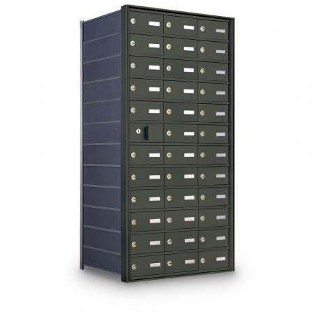 35 Door Private Use Front Loading Horizontal Mailbox - Bronze