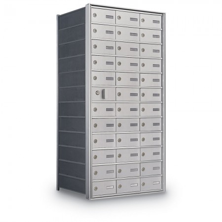35 Door Private Use Front Loading Horizontal Mailbox - Silver