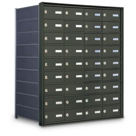 36 Door Private Use Rear Loading Horizontal Mailbox - Bronze