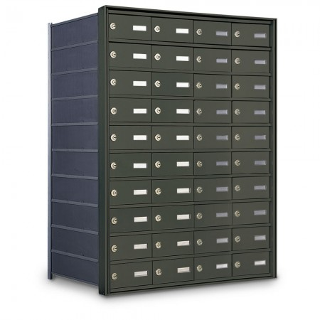 40 Door Private Use Rear Loading Horizontal Mailbox - Bronze