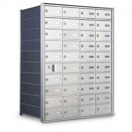 39 Door Private Use Front Loading Horizontal Mailbox - Silver