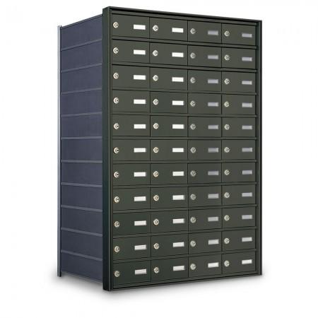 44 Door Private Use Rear Loading Horizontal Mailbox - Bronze