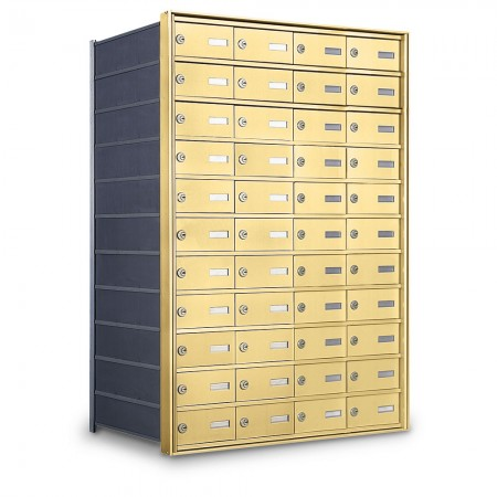 44 Door Private Use Rear Loading Horizontal Mailbox - Gold