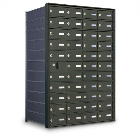 43 Door Private Use Front Loading Horizontal Mailbox - Bronze