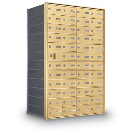47 Door Private Use Front Loading Horizontal Mailbox - Gold