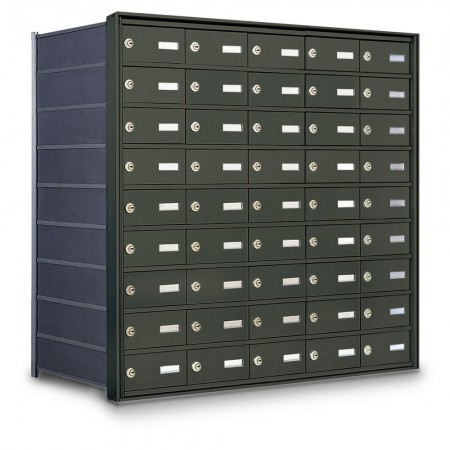 45 Door Private Use Rear Loading Horizontal Mailbox - Bronze
