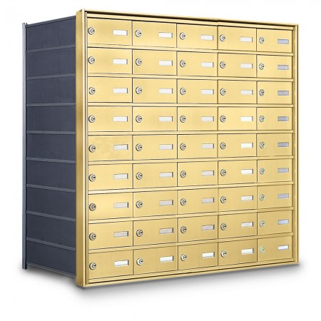 45 Door Private Use Rear Loading Horizontal Mailbox - Gold