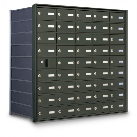 44 Door Private Use Front Loading Horizontal Mailbox - Bronze
