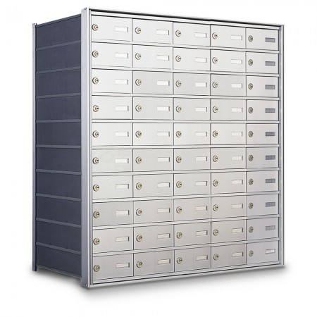 50 Door Private Use Rear Loading Horizontal Mailbox