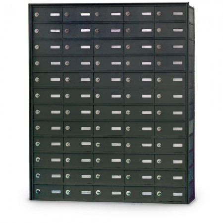 60 Door Private Use Rear Loading Horizontal Mailbox - Bronze