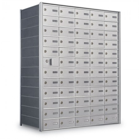 59 Door Private Use Front Loading Horizontal Mailbox - Silver