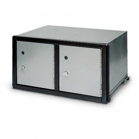 Two Compartment Rack Ladder Parcel Locker, Closed Back
