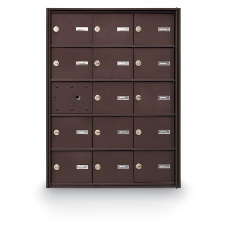 14 Door Front Loading 4B+ Horizontal Mailbox - Bronze