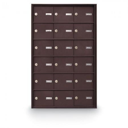 18 Door Rear Loading 4B+ Horizontal Mailbox - Bronze