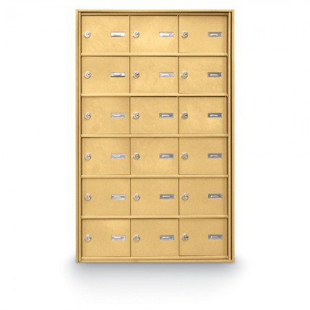 18 Door Rear Loading 4B+ Horizontal Mailbox - Gold