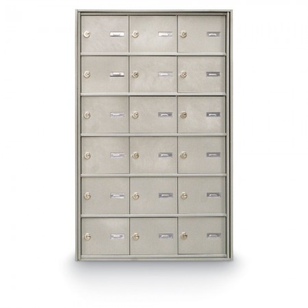 18 Door Rear Loading 4B+ Horizontal Mailbox - Silver