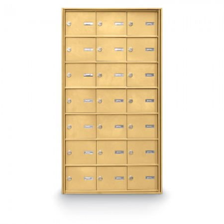 21 Door Rear Loading 4B+ Horizontal Mailbox - Gold