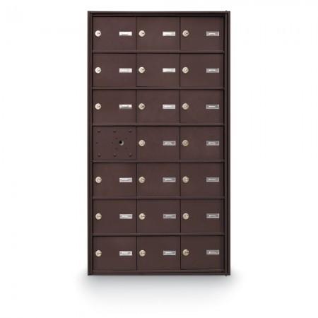 20 Door Front Loading 4B+ Horizontal Mailbox - Bronze