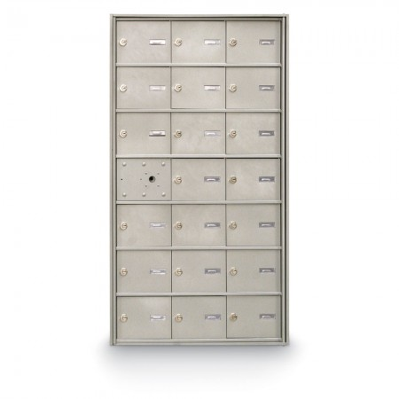 20 Door Front Loading 4B+ Horizontal Mailbox - Silver