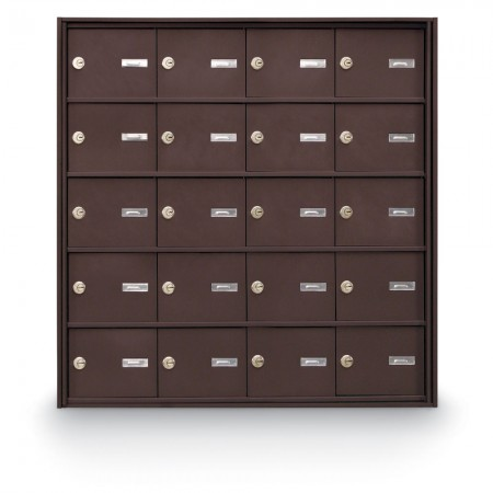 20 Door Rear Loading 4B+ Horizontal Mailbox - Bronze