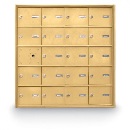 19 Door Front Loading 4B+ Horizontal Mailbox - Gold