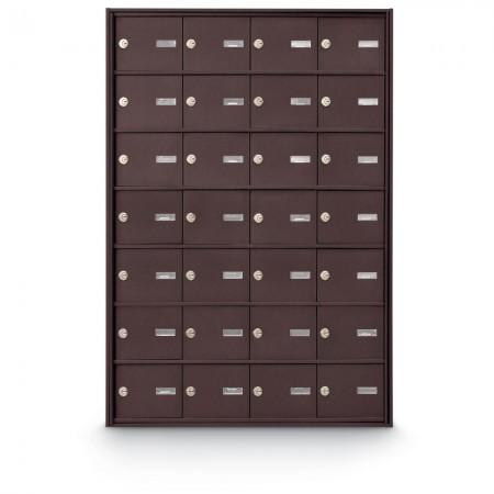 28 Door Rear Loading 4B+ Horizontal Mailbox - Bronze