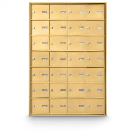 28 Door Rear Loading 4B+ Horizontal Mailbox - Gold