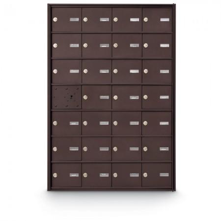 27 Door Front Loading 4B+ Horizontal Mailbox - Bronze