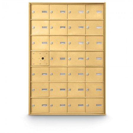 27 Door Front Loading 4B+ Horizontal Mailbox - Gold