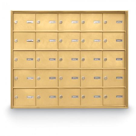 25 Door Rear Loading 4B+ Horizontal Mailbox - Gold