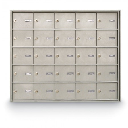 25 Door Rear Loading 4B+ Horizontal Mailbox