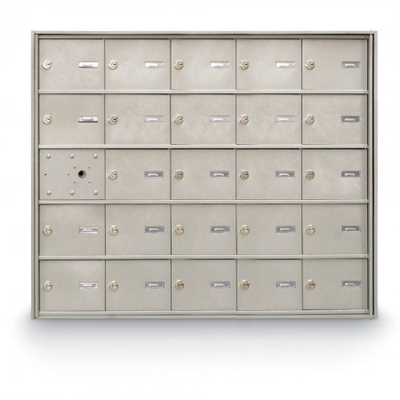 24 Door Front Loading 4B+ Horizontal Mailbox - Silver