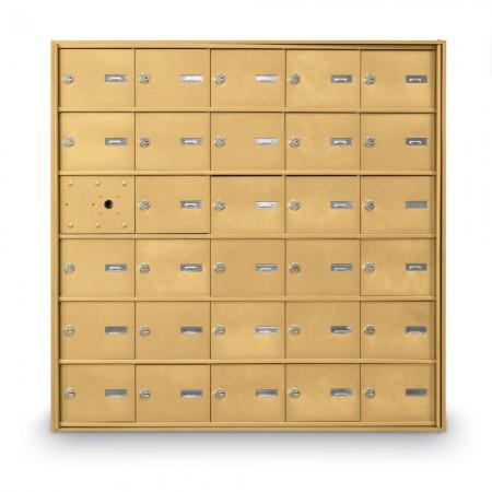 29 Door Front Loading 4B+ Horizontal Mailbox - Gold