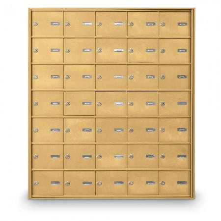 35 Door Rear Loading 4B+ Horizontal Mailbox - Gold