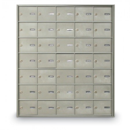 35 Door Rear Loading 4B+ Horizontal Mailbox - Silver
