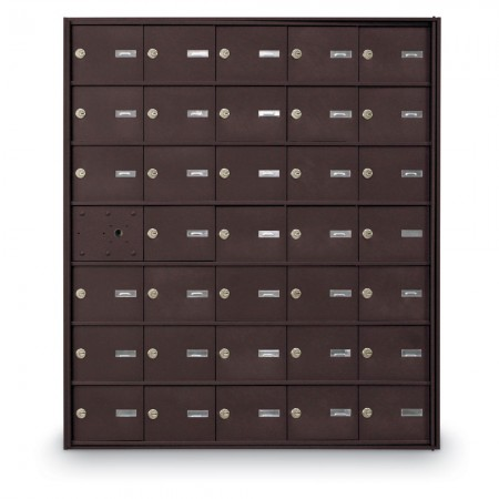 34 Door Front Loading 4B+ Horizontal Mailbox - Bronze
