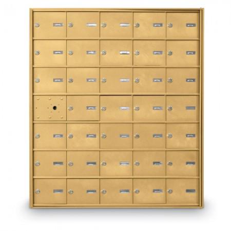 34 Door Front Loading 4B+ Horizontal Mailbox - Gold