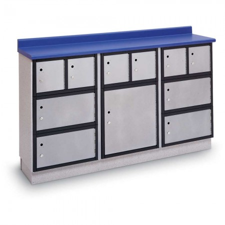 "Secure Storage Locker with Writing Surface, 72""W - CABINET ONLY"
