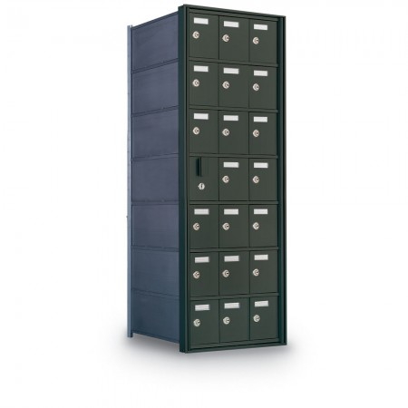 20 Door Private Use Front Loading Horizontal Mailbox - Gold