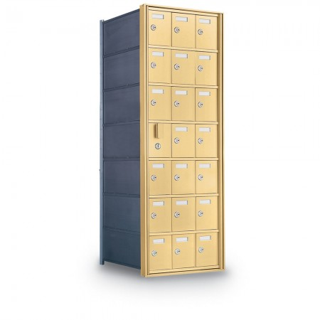 20 Door Private Use Front Loading Horizontal Mailbox - Bronze