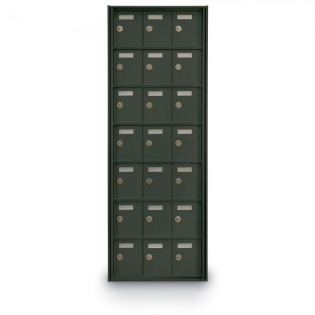 21 Door Private Use Rear Loading Horizontal Mailbox - Bronze