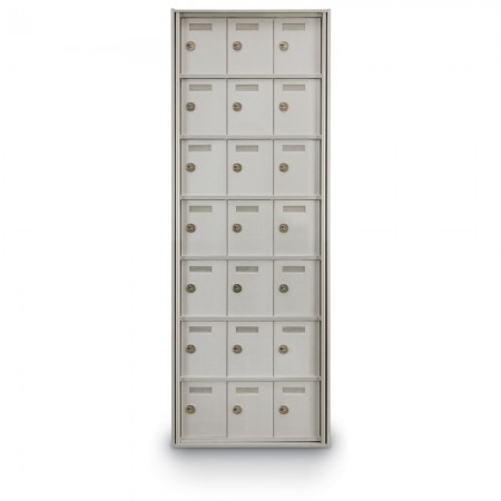 21 Door Private Use Rear Loading Horizontal Mailbox - Silver