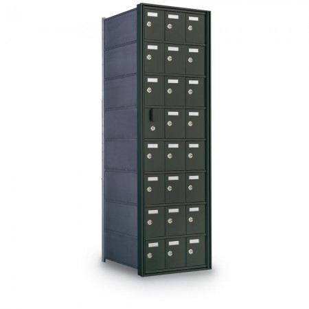 23 Door Private Use Front Loading Horizontal Mailbox - Gold