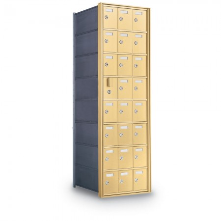 23 Door Private Use Front Loading Horizontal Mailbox - Bronze