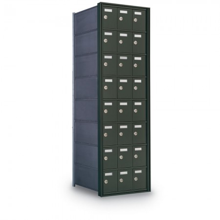 24 Door Private Use Rear Loading Horizontal Mailbox - Bronze