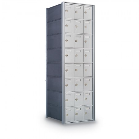 24 Door Private Use Rear Loading Horizontal Mailbox